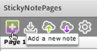 add note button