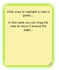 click note to highlight in green